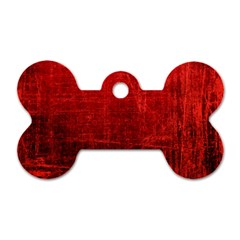 Shades Of Red Dog Tag Bone (two Sides) by trendistuff