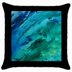 Shades Of Blue Throw Pillow Cases (black) by trendistuff