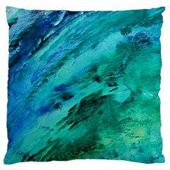 Shades Of Blue Large Cushion Cases (one Side)  by trendistuff