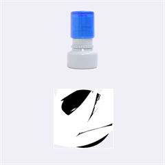 Pretty Abstract Art Rubber Round Stamps (small)