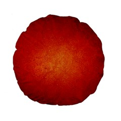 Orange Dot Art Standard 15  Premium Flano Round Cushions by trendistuff