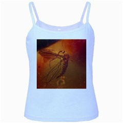 Mosquito In Amber Baby Blue Spaghetti Tanks by trendistuff