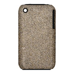 Light Beige Sand Texture Apple Iphone 3g/3gs Hardshell Case (pc+silicone) by trendistuff