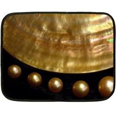 Golden Pearls Fleece Blanket (mini) by trendistuff