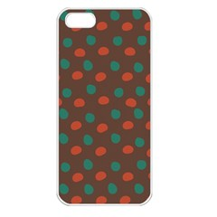 Distorted Polka Dots Pattern Apple Iphone 5 Seamless Case (white) by LalyLauraFLM
