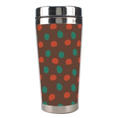 Distorted Polka Dots Pattern Stainless Steel Travel Tumbler by LalyLauraFLM