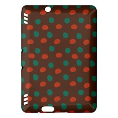 Distorted Polka Dots Pattern Kindle Fire Hdx Hardshell Case by LalyLauraFLM