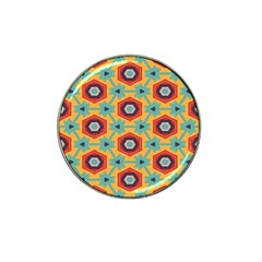Stars And Honeycomb Pattern Hat Clip Ball Marker (4 Pack) by LalyLauraFLM