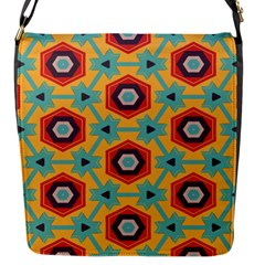 Stars And Honeycomb Pattern Flap Closure Messenger Bag (s) by LalyLauraFLM