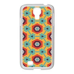 Stars And Honeycomb Pattern Samsung Galaxy S4 I9500/ I9505 Case (white) by LalyLauraFLM