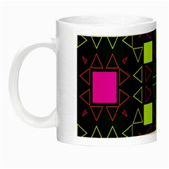 Triangles And Squares Night Luminous Mug by LalyLauraFLM