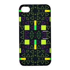 Triangles And Squares Apple Iphone 4/4s Hardshell Case With Stand by LalyLauraFLM