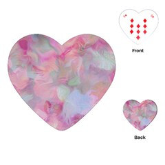 Soft Floral Pink Playing Cards (heart)  by MoreColorsinLife