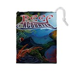 Reef Encounter  - Drawstring Pouch (Large)