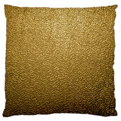 Gold Plastic Large Flano Cushion Cases (two Sides)  by trendistuff