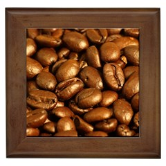 Chocolate Coffee Beans Framed Tiles by trendistuff