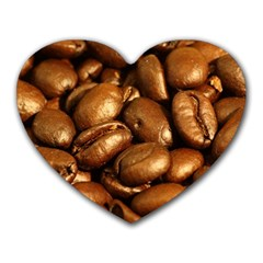 Chocolate Coffee Beans Heart Mousepads by trendistuff