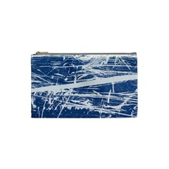 BLUE AND WHITE ART Cosmetic Bag (Small)  by trendistuff