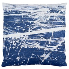 Blue And White Art Large Cushion Cases (one Side)  by trendistuff