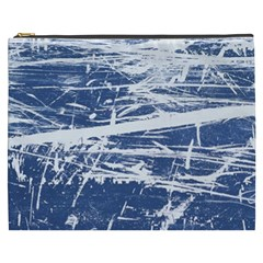 Blue And White Art Cosmetic Bag (xxxl)  by trendistuff