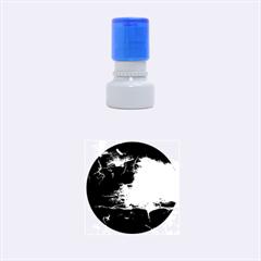Black Splatter Rubber Round Stamps (small) by trendistuff