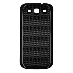 Black Honeycomb Samsung Galaxy S3 Back Case (black) by trendistuff