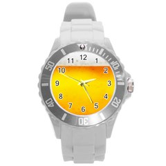 Beer Round Plastic Sport Watch (l) by trendistuff