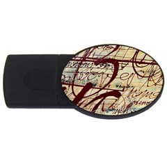 ABSTRACT 2 USB Flash Drive Oval (4 GB)  by trendistuff