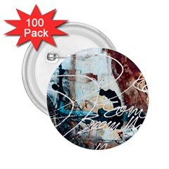 Abstract 1 2 25  Buttons (100 Pack)  by trendistuff