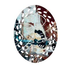 Abstract 1 Oval Filigree Ornament (2 Side)  by trendistuff