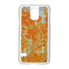 Yellow Rusty Metal Samsung Galaxy S5 Case (white) by trendistuff