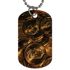Gold Coins 2 Dog Tag (one Side) by trendistuff
