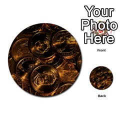 Gold Coins 2 Multi Purpose Cards (round)  by trendistuff