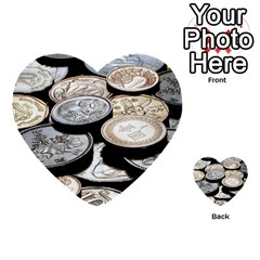 FOREIGN COINS Multi-purpose Cards (Heart)  by trendistuff