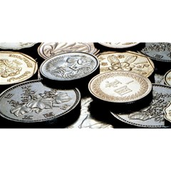 Foreign Coins You Are Invited 3d Greeting Card (8x4)