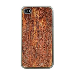 Flaky Rusting Metal Apple Iphone 4 Case (clear) by trendistuff
