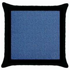 Denim Throw Pillow Cases (black) by trendistuff