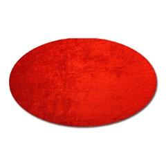 Crushed Red Velvet Oval Magnet by trendistuff