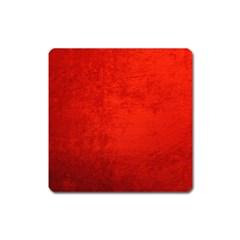 Crushed Red Velvet Square Magnet by trendistuff
