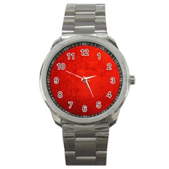 Crushed Red Velvet Sport Metal Watches by trendistuff