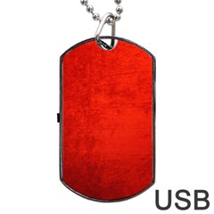Crushed Red Velvet Dog Tag Usb Flash (two Sides)  by trendistuff