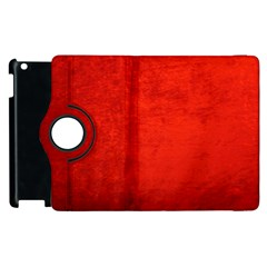 Crushed Red Velvet Apple Ipad 2 Flip 360 Case by trendistuff