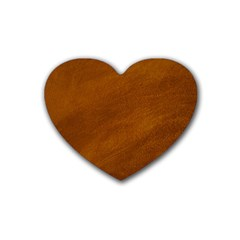 Brushed Suede Texture Heart Coaster (4 Pack)  by trendistuff