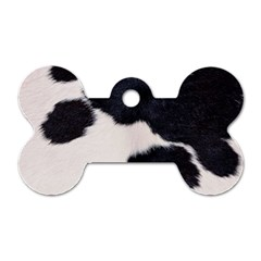 Spotted Cow Hide Dog Tag Bone (two Sides) by trendistuff