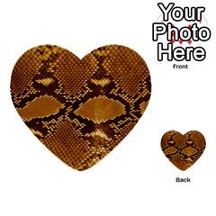 Snake Skin Multi Purpose Cards (heart)  by trendistuff