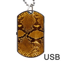 Snake Skin Dog Tag Usb Flash (one Side) by trendistuff