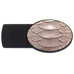 Scaly Leather Usb Flash Drive Oval (4 Gb)  by trendistuff