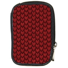 Red Reptile Skin Compact Camera Cases by trendistuff