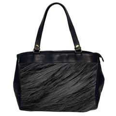 Long Haired Black Cat Fur Office Handbags (2 Sides)  by trendistuff