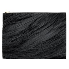 Long Haired Black Cat Fur Cosmetic Bag (xxl)  by trendistuff